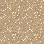 Dot seamless pattern on a brown background.