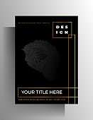 Cover template design for book, magazine, booklet, catalog, poster.