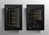Wedding invitation template set.