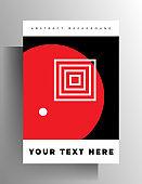 Geometric design cover template for book, magazine, brochure, catalog, folder, poster.