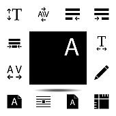 Files, text icon. Simple glyph, flat vector of Text editor set icons for UI and UX, website or mobile application