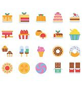 Sweets and candy icons