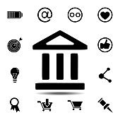 bank icon. Simple glyph vector element of web, minimalistic icons set for UI and UX, website or mobile application