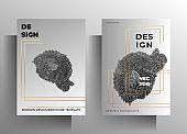 Cover design for the book, magazine, brochure, catalog, folder, poster set of templates.