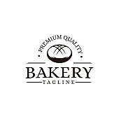 vintage bakery bread food logo vector template
