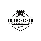 fried chicken icon vector
