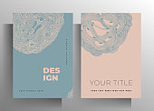 Cover for book, magazine, brochure, catalog, brochure, poster set of templates.