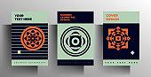 Geometric cover design for book, brochure, catalog, brochure, folder template set.