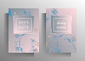 Design wedding invitation template set.