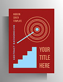 Geometric design cover template for book, booklet, catalog, poster.