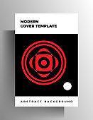 Geometric cover design for book, magazine, brochure, booklet, catalog.