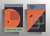 Cover for book, brochure, catalog, folder, magazine, poster template set.