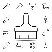 brush, painting icon. Simple thin line, outline vector element of Construction tools icons set for UI and UX, website or mobile application