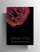 Cover design template for book, magazine, brochure, catalog, booklet, poster.