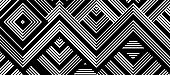 Seamless abstract pattern with black white striped lines