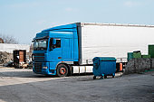 Truck on a parking is ready for transportation. Logistics.