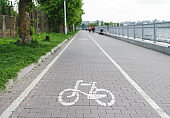 Bicycle path on pier