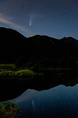 Comet NEOWISE after sunset, viewed from Pitt Meadows, BC, Canada