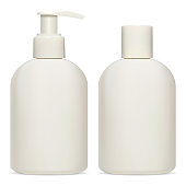 Cosmetic bottle package. Cream, lotion, shampoo