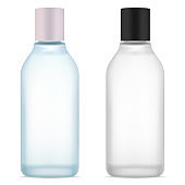 Cosmetic water bottle. Face skin serum product