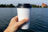 Coffee at the lake.