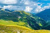 Austrian alps in a sunny day
