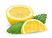 Lemon isolated on white with clipping path