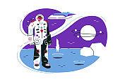 Astronaut on lunar mission space exploration