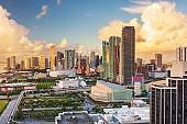 Miami, Florida, USA Downtown Cityscape