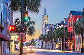 Charleston, South Carolina, USA in the French Quarter.