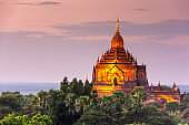 Bagan, Myanmar temples in the Archaeological Zone