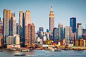 New York, New York, USA Skyline on the Hudson River