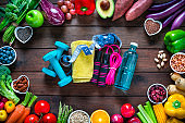 Exercising and vegan food, the key for a healthy lifestyle