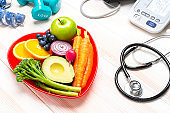 Healthy eating, exercising and heart health monitoring