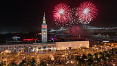 San Francisco New Year's Eve Fireworks at the Ferry Building