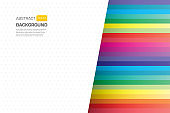 Geometric colorful line paper cut background design