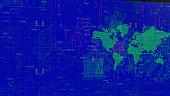 4k World Map Background