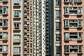 residential building facade, real estate exterior, HongKong