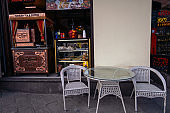 Turkish cafe and table on the street