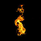 Fire frame on a black background