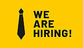 We are hiring, open vacancy. Hiring and recruitment banner design. Vacant position, join our team. Business hiring and recruiting concept