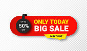 Sale sticker or tag. Sale, discount and special offer, colorful banner. Discount label, offer tag and sale sticker design for advertising and promotion