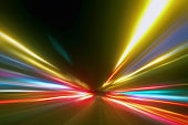 Light Trails in the Dark,Traffic Light trails,AbstractTraffic Lines Background