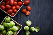 Brussels sprouts and Cherry tomatoes