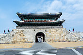 Janganmun Gate, Korea traditional landmark in the city of Suwon of South Korea. Hwaseong Fortress is an historic building in the latter part of the Joseon Dynasty.
