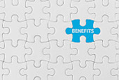 Benefits, Jigsaw puzzle concept.