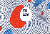 Flowing dots array of dynamic particles in motion, trendy modern style abstract vector background, science and technology future theme template for ads.