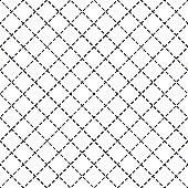 Geometric vector seamless pattern with crossed lines, abstract background. Simple minimalistic black and white design. Single color, black and white. Usable for fabric, wallpaper, wrapping, web and print.