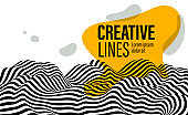 Creative line background