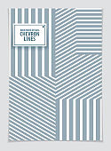 Modern minimal Template brochure, leaflet, poster. Vector geometric pattern abstract background. Striped line textured geometric illustration. A4 print format.